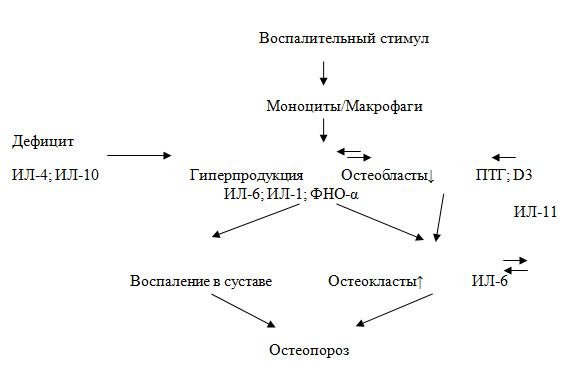 Рис. 17 Схема взаимосвязи