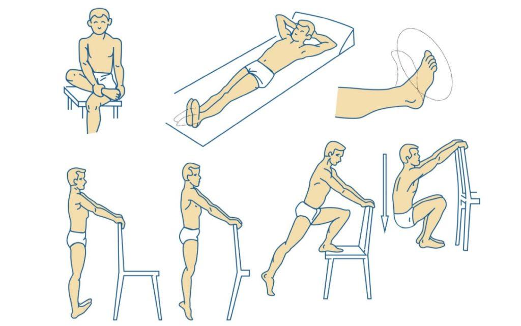 Упражнения для восстановления после перелома лодыжки
